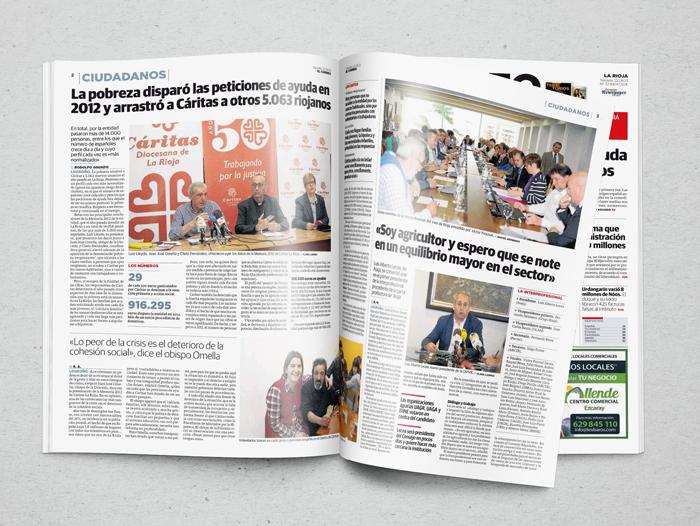 Reportaje en El Correo a raíz de la presentación de la memoria de 2012