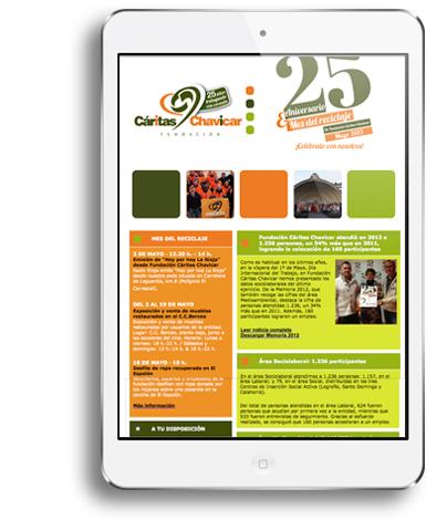 Newsletter-informativo-memoria-de-Fundación-Cáritas-Chavicar