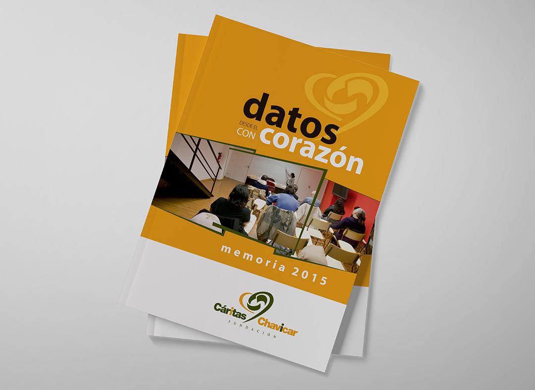 Diseño de la memoria de Fundación Cáritas Chavicar