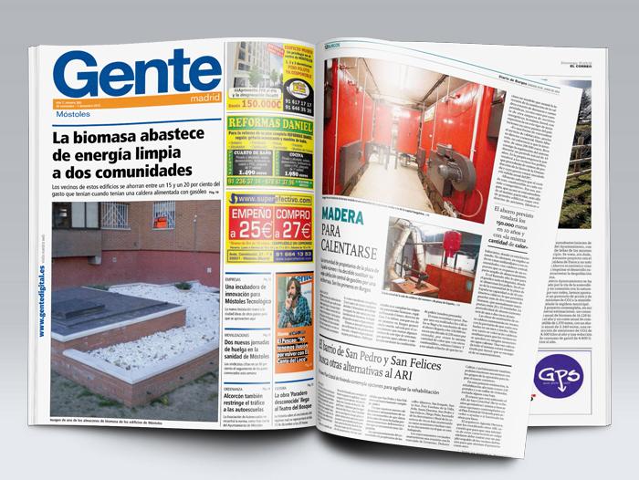 Reportaje con diferentes noticias publicadas en diario Gente y en el Diario de Burgos