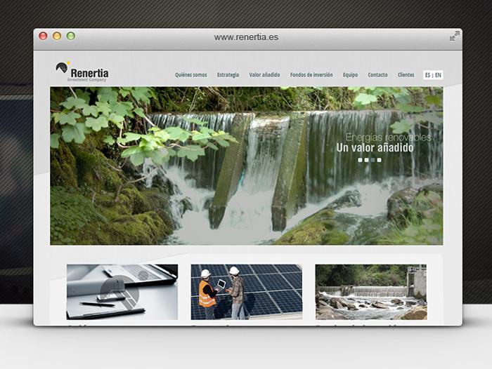 La página cuenta con un slider en el que se muestran los principales mensajes de la compañía