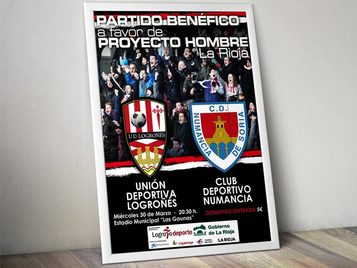 Partido de fútbol a beneficio de Proyecto Hombre La Rioja