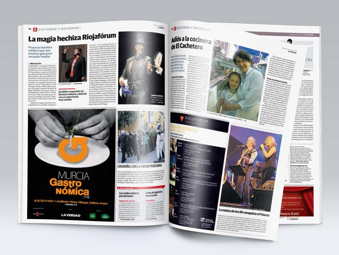 Impactos en la prensa del concierto de los años 80 y la gala de magia