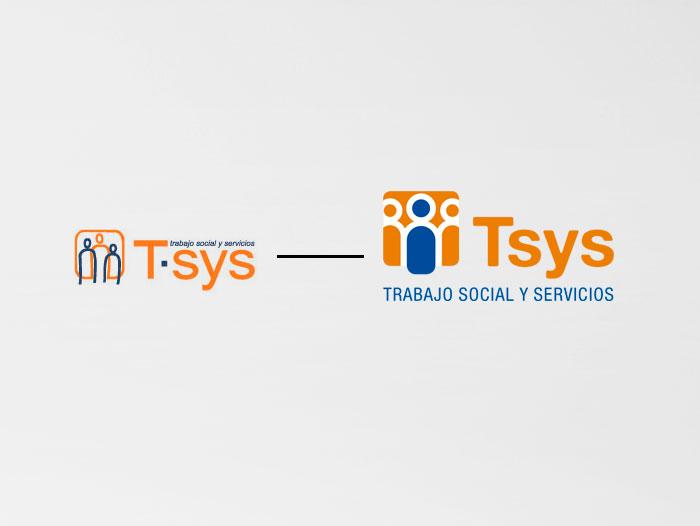 A la izquierda, el logotipo inicial; a la derecha, el resultado tras el restiling