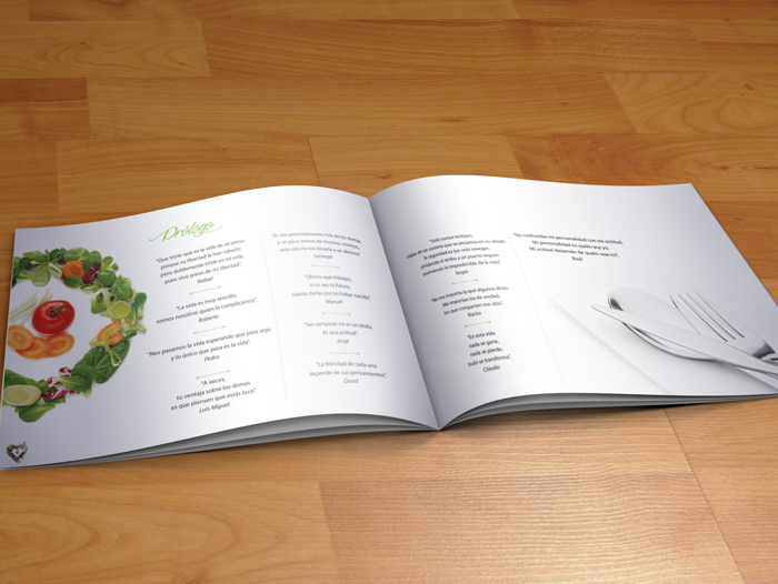 Imagen del interior del recetario