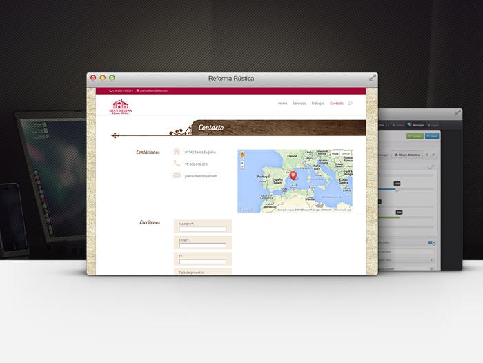 El website dispone de una área de contacto para solicitar presupuesto