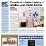 Artículo de Cocina Económica en Noticias de La Rioja tras la rueda de prensa