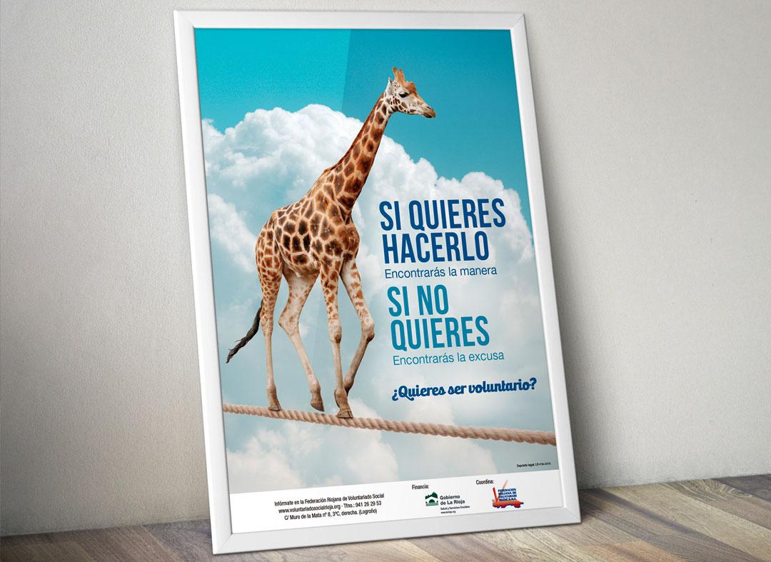 Campaña de captación de voluntarios de la Federación Riojana de Voluntariado Social