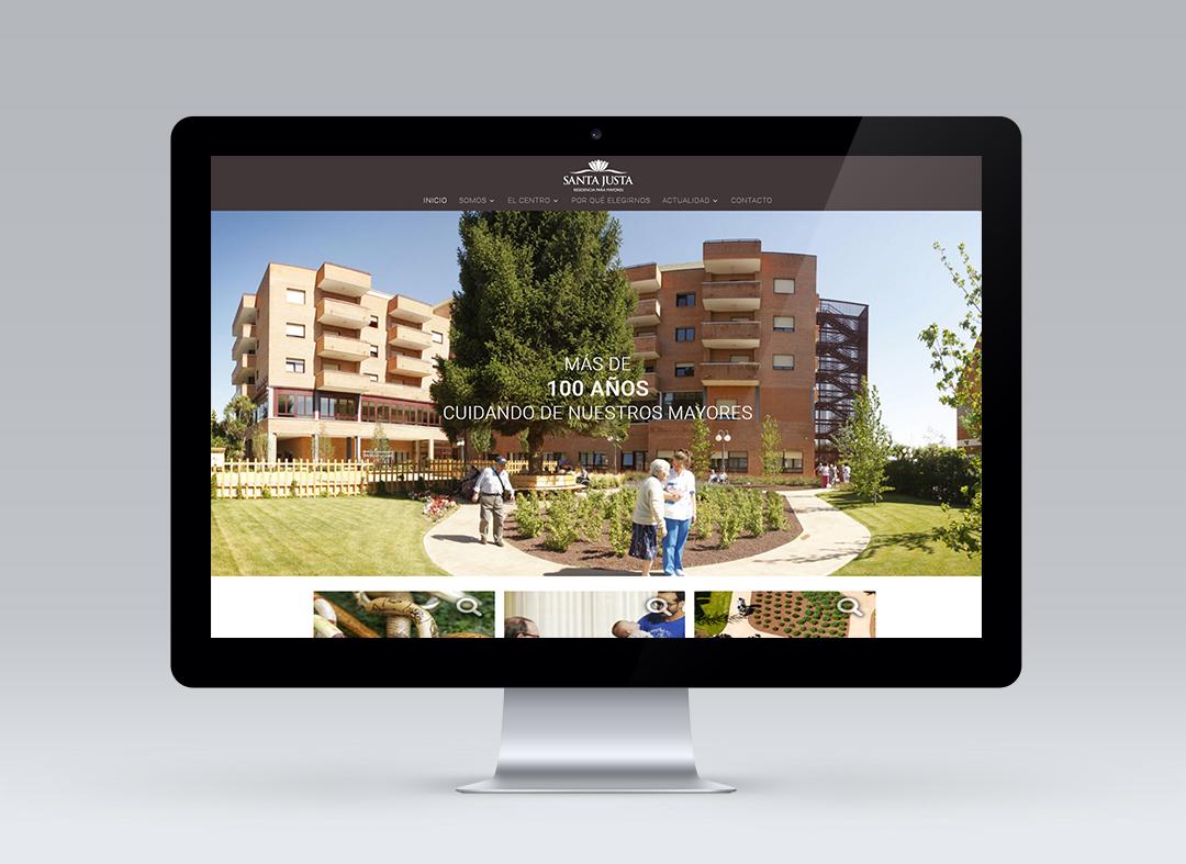 Página web de Residencia Santa Justa