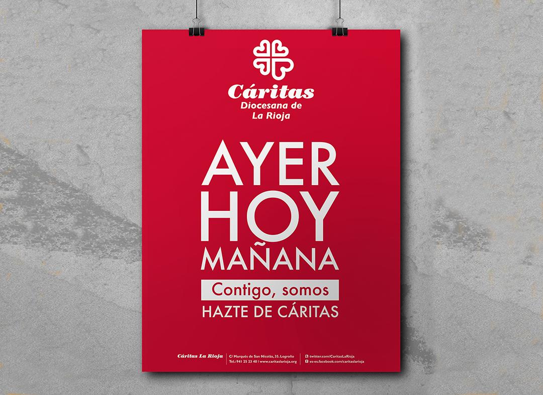 """Diseño de los materiales para la campaña """"Ayer, Hoy y Mañana"""""""
