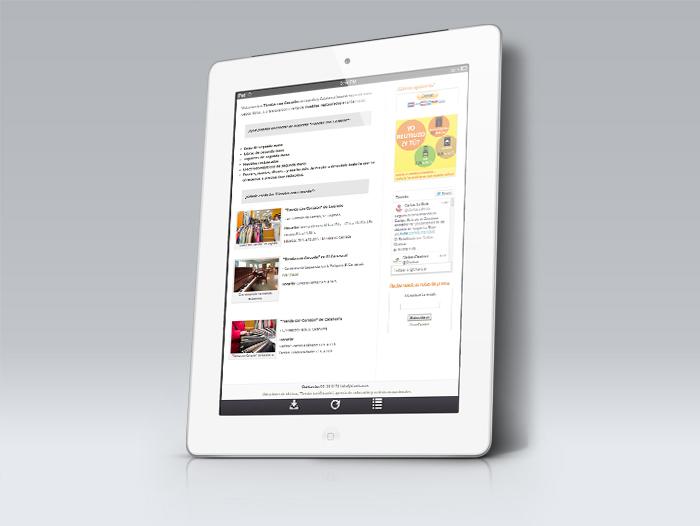La barra lateral alberga opciones como la de donar de forma online o suscribirse al servicio de notas de prensa