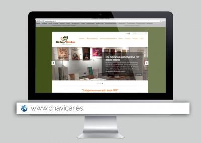 Página web de Fundación Cáritas Chavicar