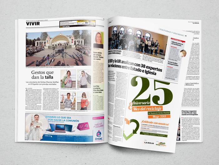 Dossier de prensa con impactos del Mes del Reciclaje en diferentes medios