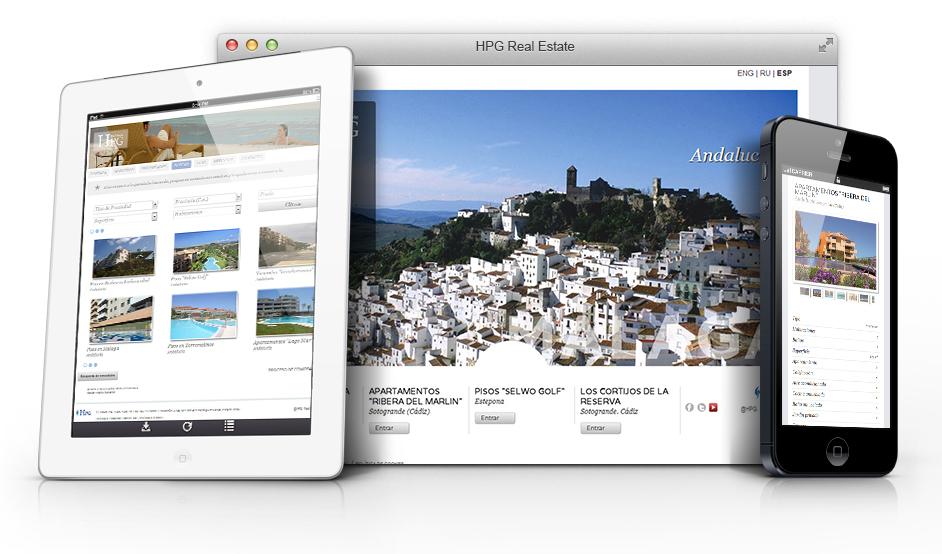 Página web www.hpg-realestate.com