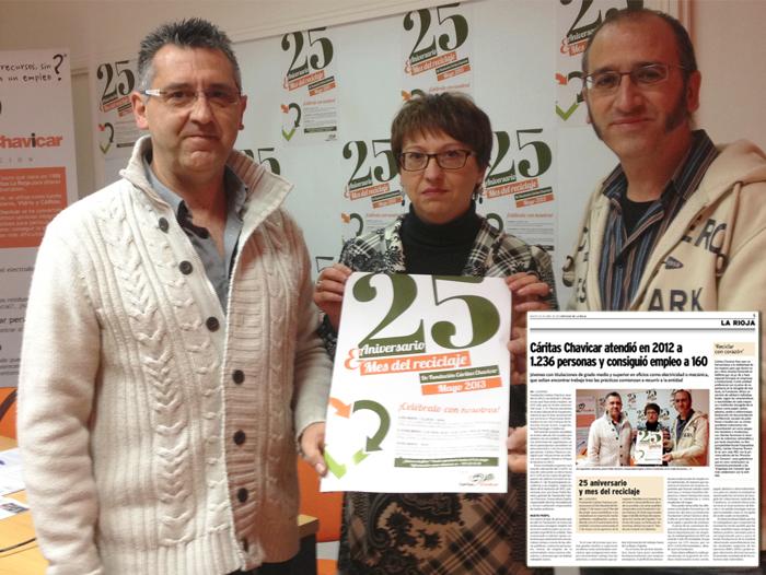 Presentación de la memoria de Fundación Cáritas Chavicar e información publicada en Noticias de La Rioja
