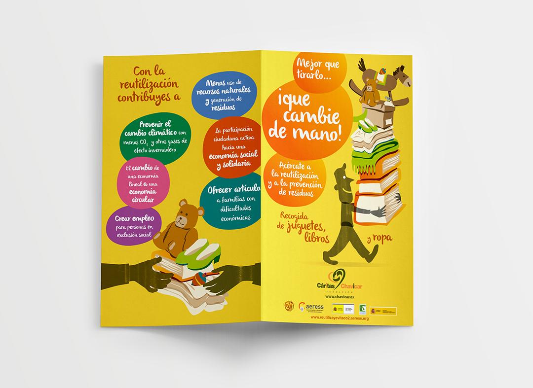 Cartel de la campaña de recogida de juguetes de Aeress