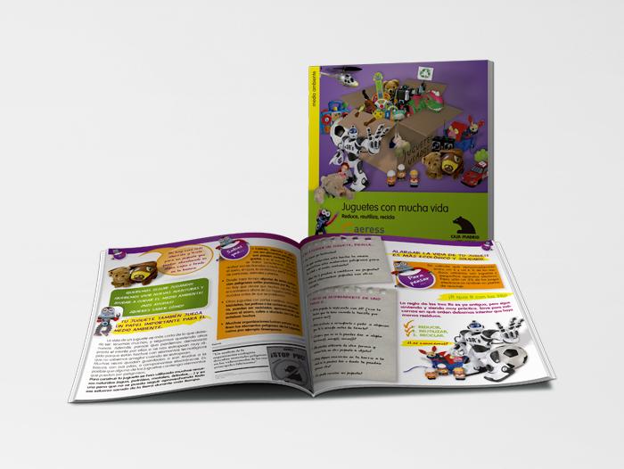 Catálogo de la campaña de recogida de juguetes de Aeress