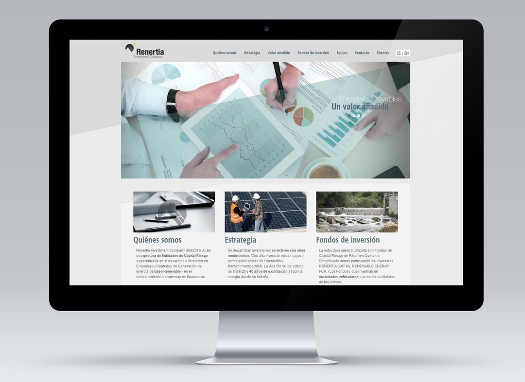 Communicadia crea y mantiene la página web www.renertia.es