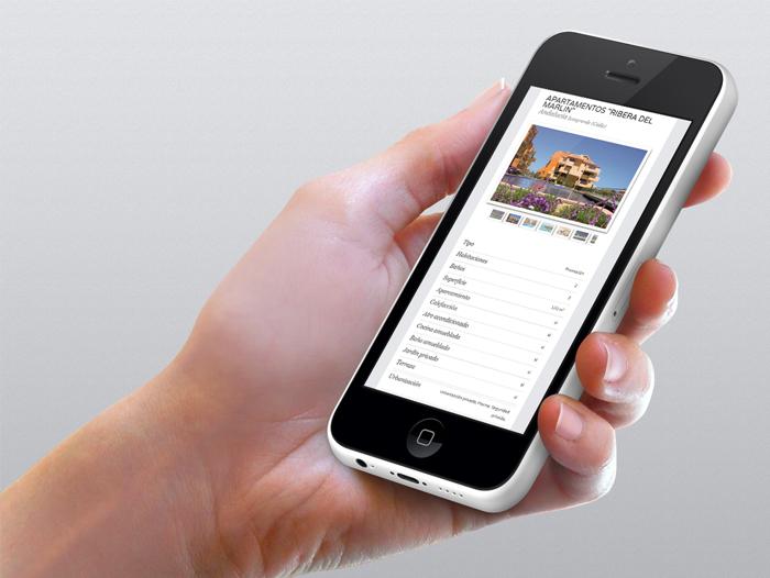 La página web de HPG Real Estate está adaptada para dispositivos móviles