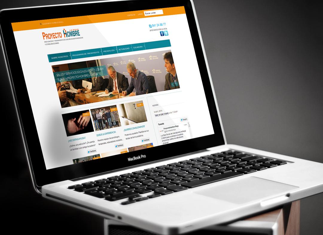 Communicadia crea la página web de Proyecto Hombre La Rioja