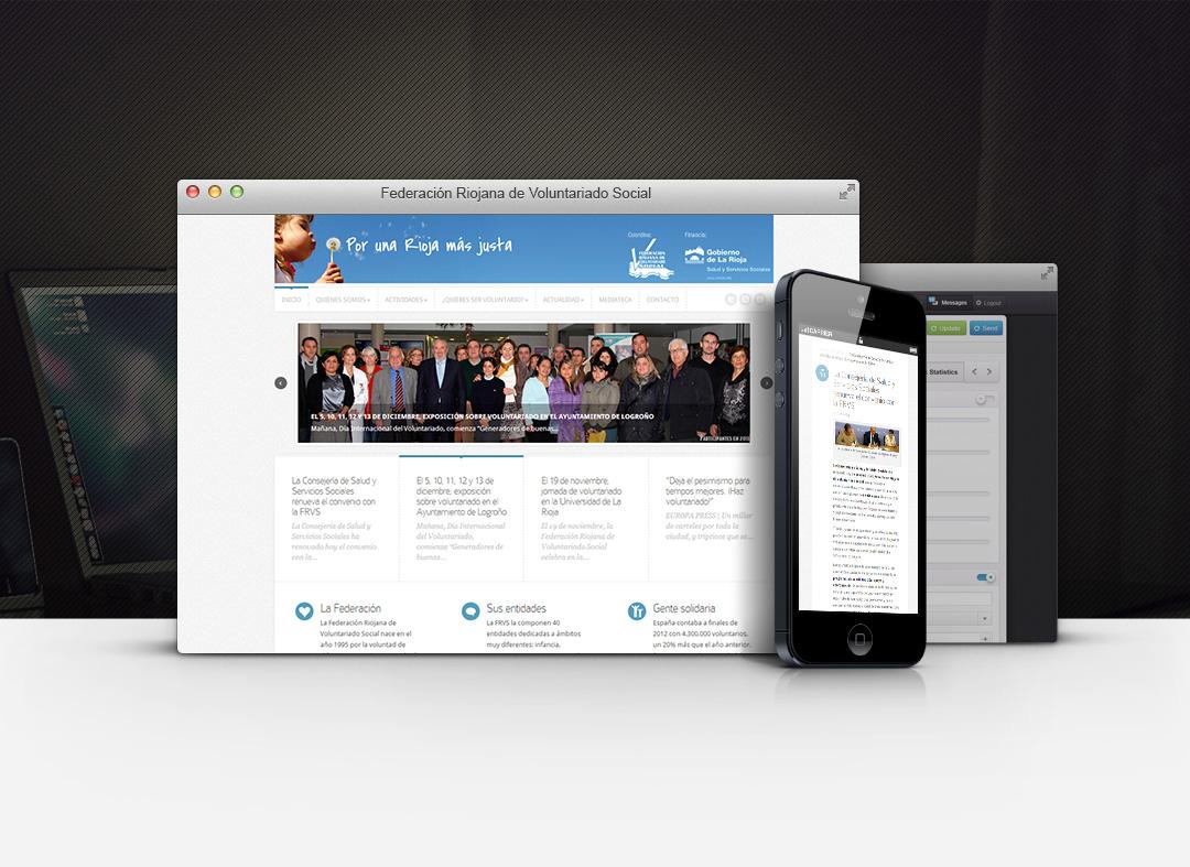 Página web de la-Federacion-Riojana-de-Voluntariado-Social