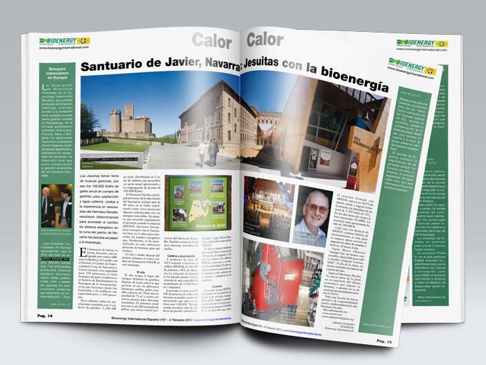 Reportaje de Bioenergy sobre el santuario de Javier