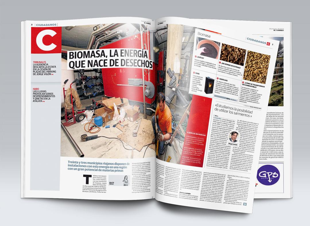 Reportaje de El Correo sobre la biomasa y Aresol