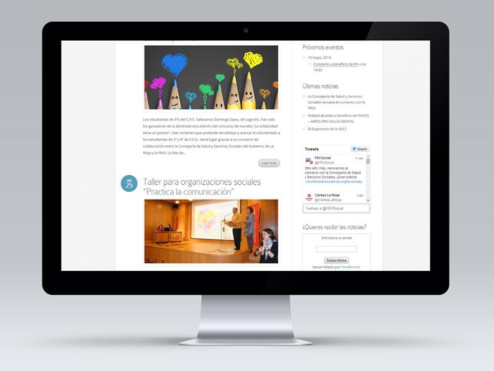 La página dispone de servicio de envío de noticias y un gestor para que las entidades introduzcan sus actos en un calendario