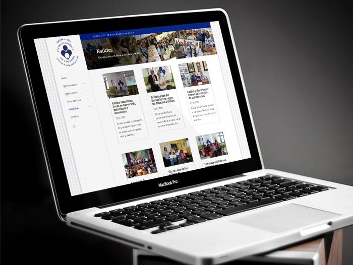 La sección de noticias permite leer las informaciones categorizadas por centros