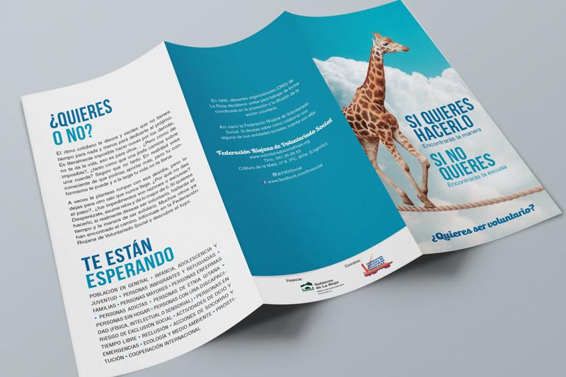 Tríptico de la campaña elaborada para la FRVS y el Gobierno de La Rioja