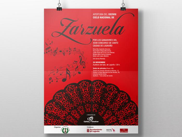 La cartelería del concierto de Zarzuela también corre a cargo de Communicadia