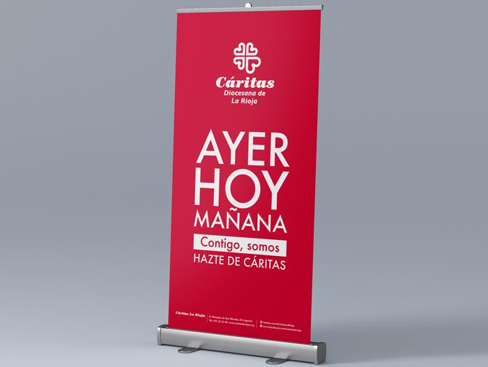 """Aplicación del diseño de la campaña """"Ayer, Hoy y Mañana"""" a distintos soportes y necesidades"""