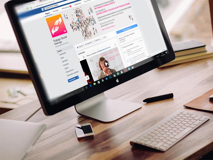 La página de Facebook de Trabajo Social de la UR fue portavoz de vídeos, imágenes, etc., para la difusión del congreso CIFETS