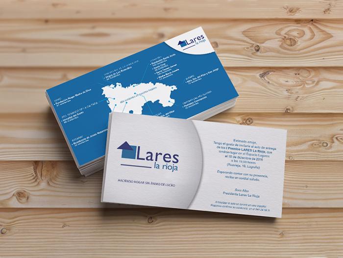 Diseño de las invitaciones para los I Premios LARES La Rioja