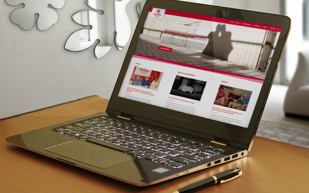 Creación de la página web de Cáritas La Rioja