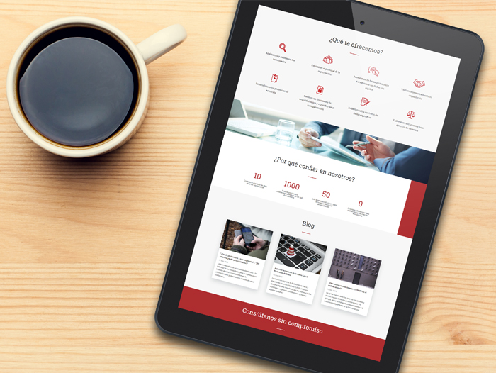 Desarrollo de página web para la empresa Datrium Protección de Datos